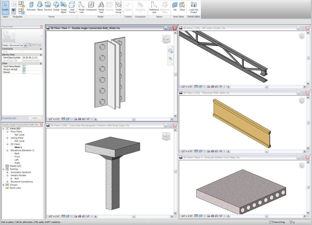 Use parametric components for design and form-making