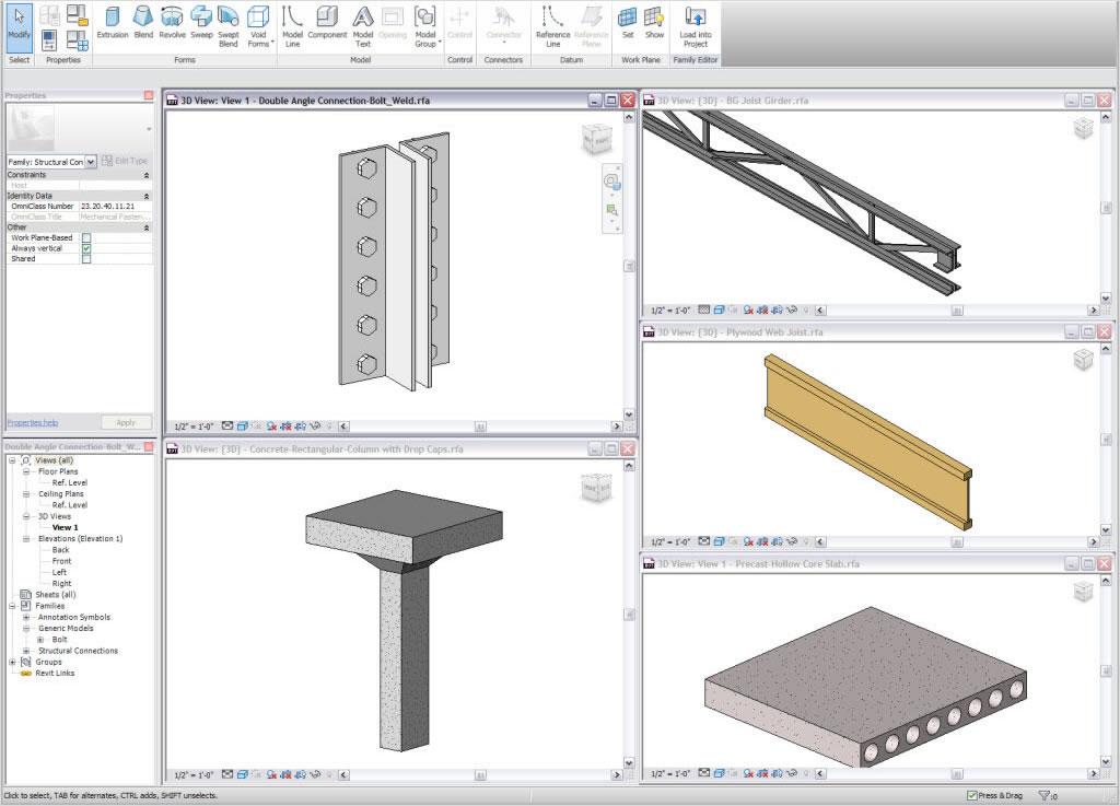 Použití parametrických komponent při navrhování a tvorbě tvarů