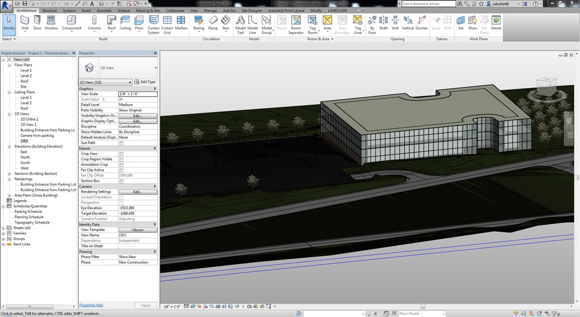 Site planning tools revit features for Building site plan software