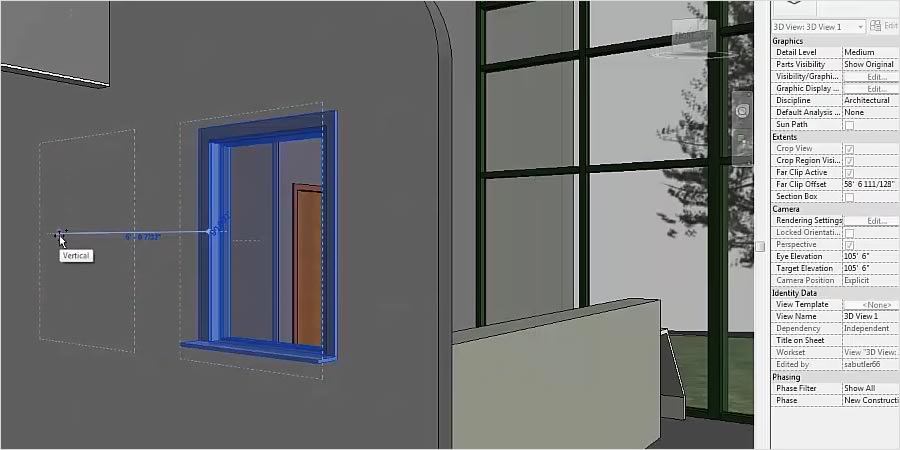 Revit lets you work in perspective