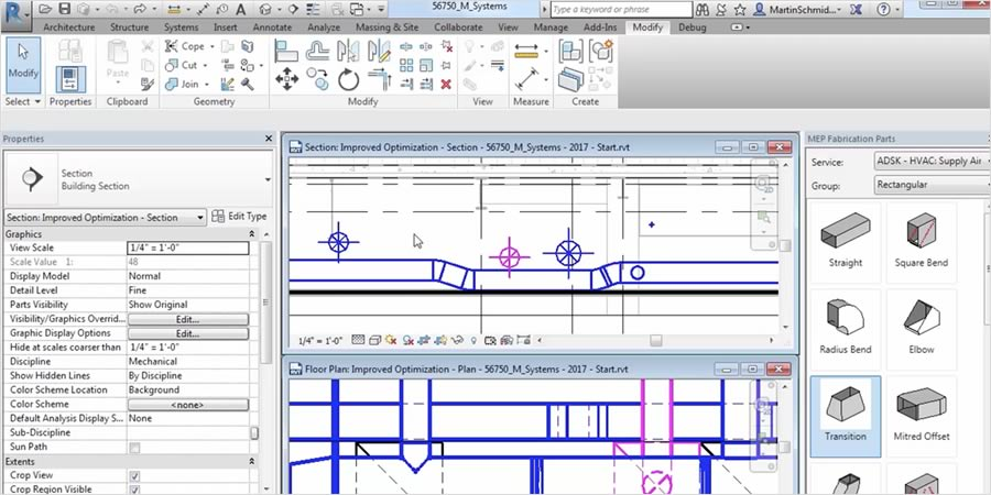Integrate content from Autodesk fabrication products to create models that more accurately represent construction