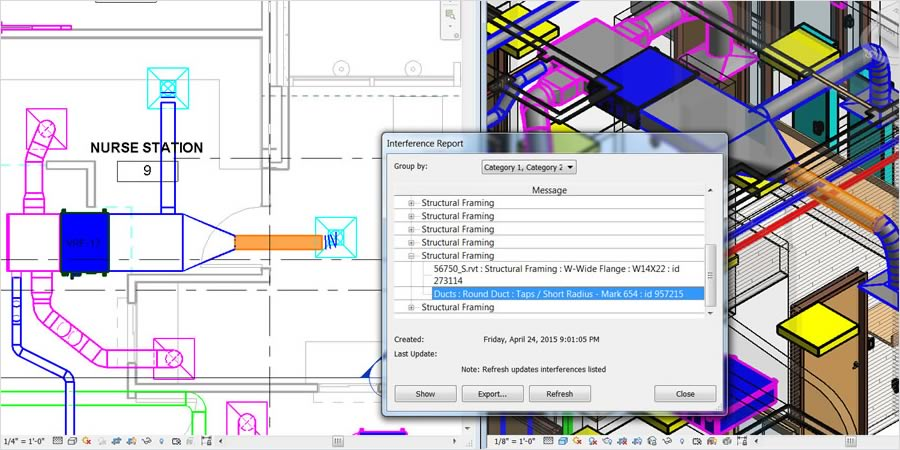 Projeto integrado do Revit MEP