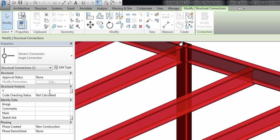 Revit offers structural connectivity features