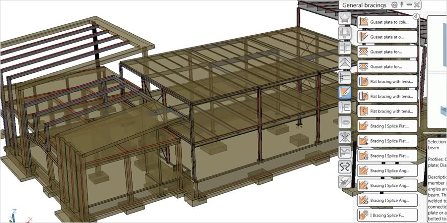Revit offers linking with steel detailing