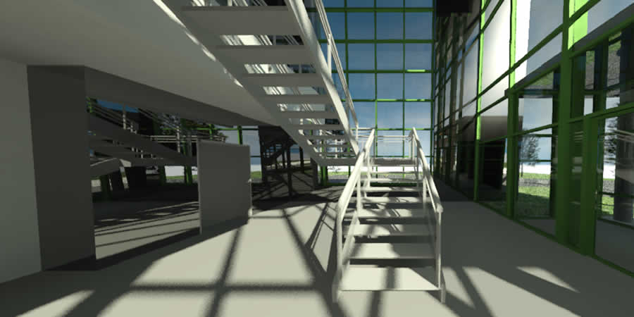 Gerendertes architektonisches Interior
