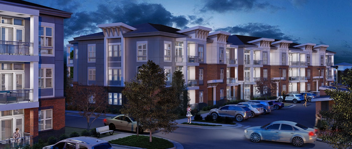Rendering of multifamily building