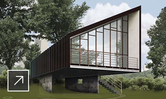 3D vizualizace moderní obytné budovy