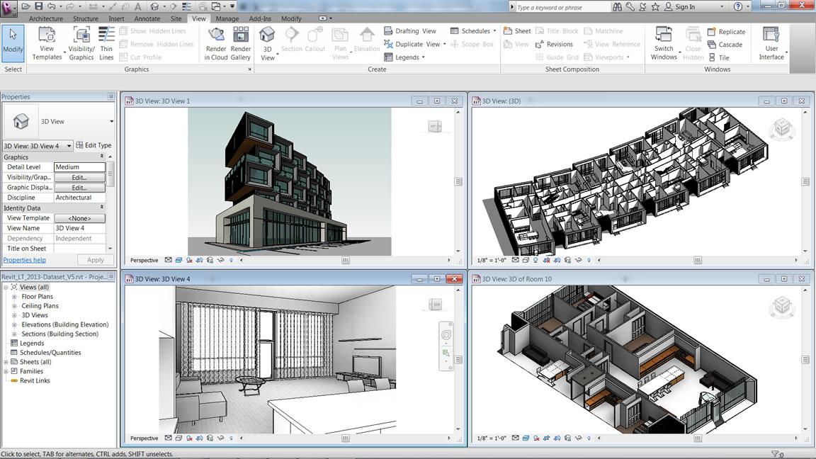 Building information modeling software revit lt for Software architettura 3d