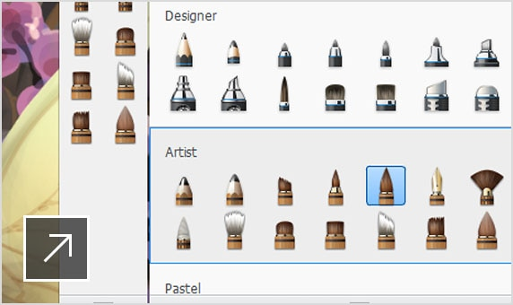 Enhanced Customize, import, and create new brushes