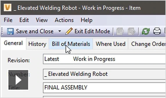 Video: Better manage materials, quantities, and other design properties in Autodesk Vault