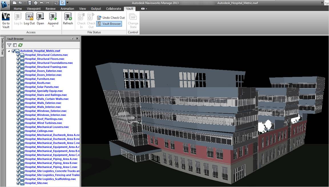 CAD コラボレーションのために、プロジェクト コラボレーション ソフトウェア Vault を他のオートデスク製品とともに使用
