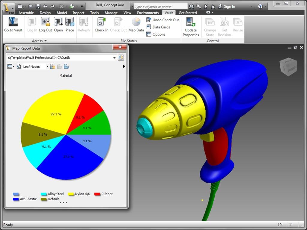 Использование Vault совместно с Inventor для управления корпоративными инженерными данными