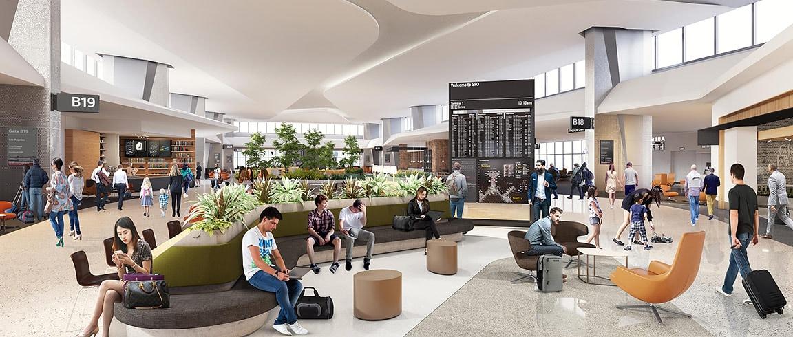 WoodsBagot et ses partenaires utilisent BIM360Design pour la reconception de l'aéroport de SanFrancisco