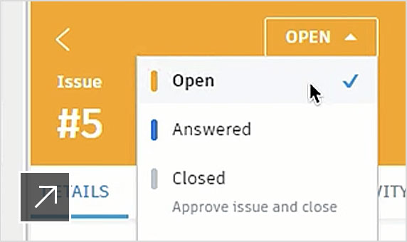 BIM 360 issues panel in Revit showing an open issue assigned to the Revit user.