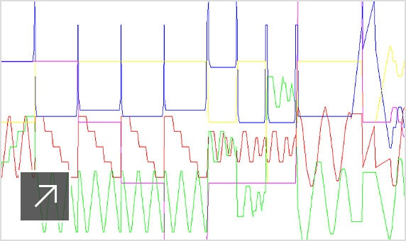 CNC 기계의 선형 및 회전 축 모션을 그래픽으로 보여주는 CAMplete TruePath 인터페이스