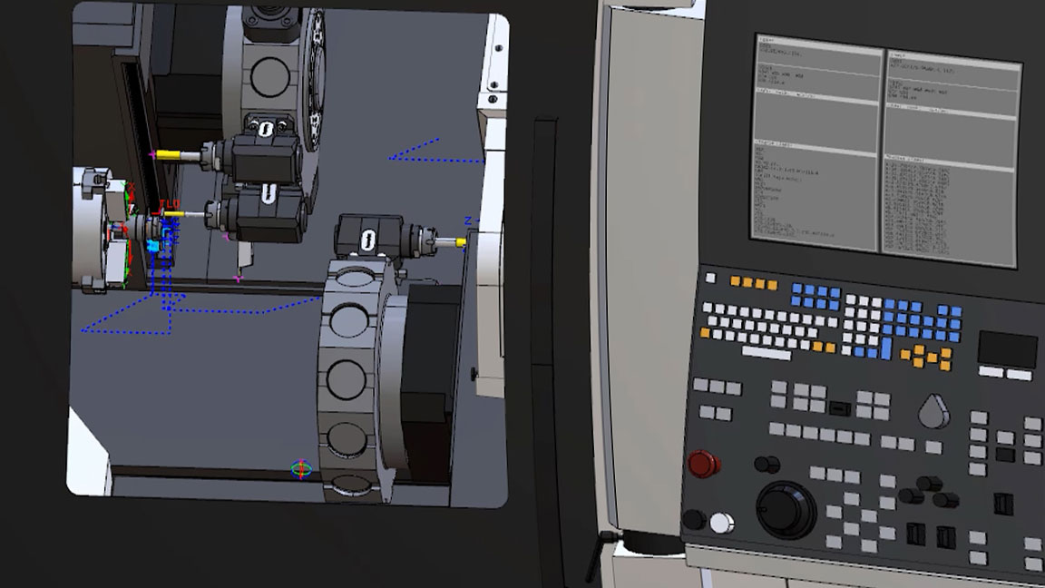 CAMplete TurnMill 用户界面显示 Nakamura-Tome 多任务机床