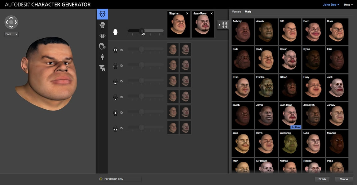 character generator 3d character creator autodesk