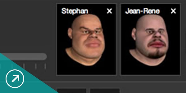 3D character creator enables you to blend 2 source characters