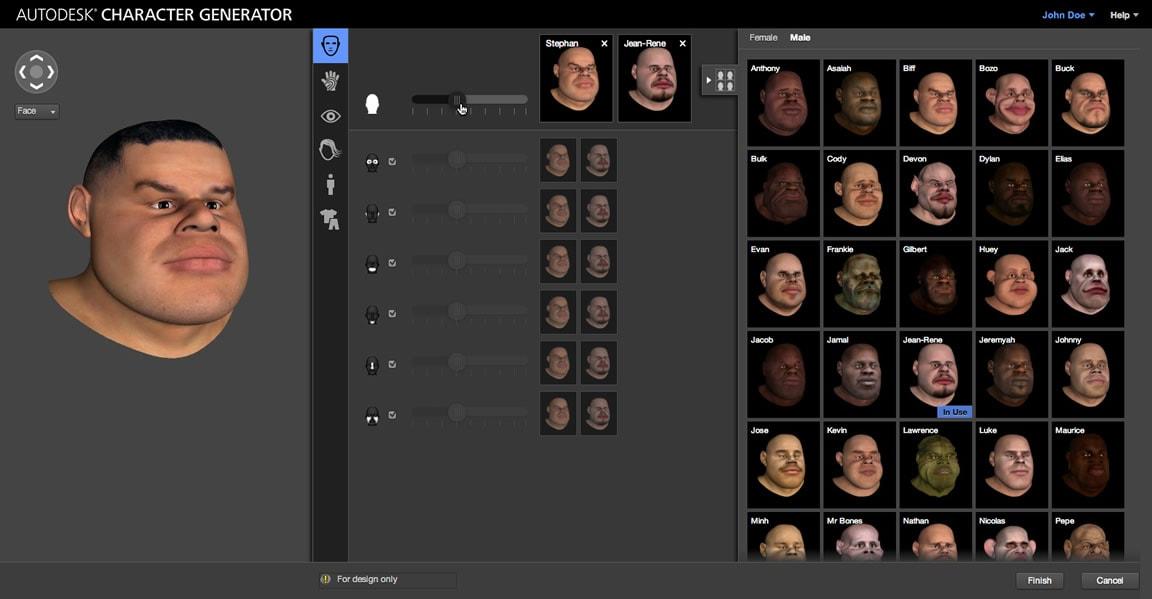 Autodesk Character Generator web service-autodesk
