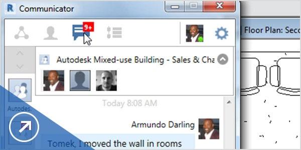 Communicator displayed in Revit screen
