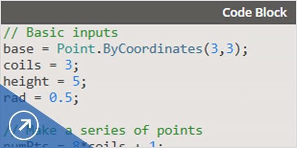 Write code using a scripting interface