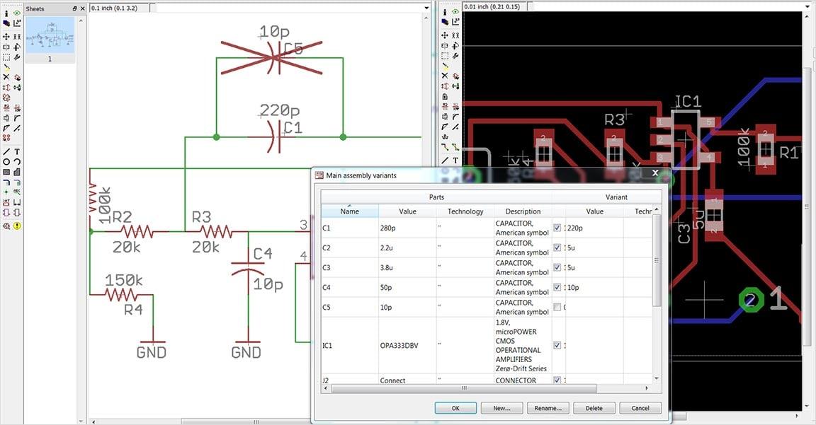 Varianten von Leiterplattenbaugruppen
