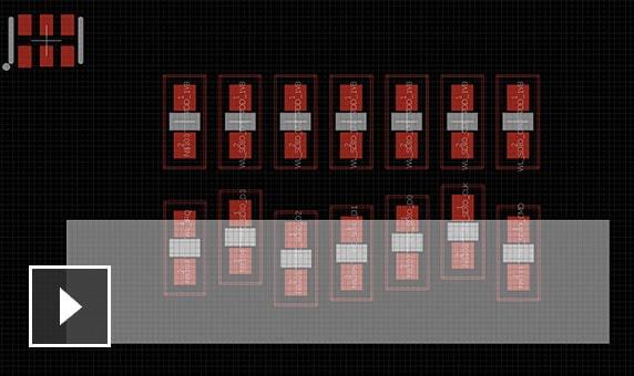 Alineación de objetos de circuitos impresos