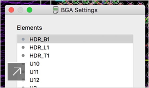 PCB BGA fan-out