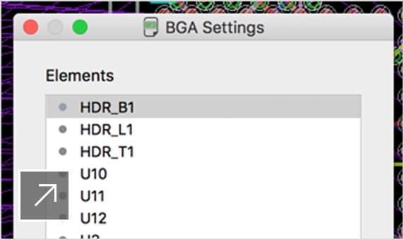 PCB の BGA 形状