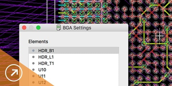 PCB BGA fanout