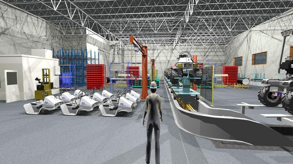 Walk-through of an ATV assembly line