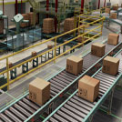3D rendering of a bottle packaging facility