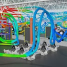 3D visual of the HVAC airflow in the factory layout