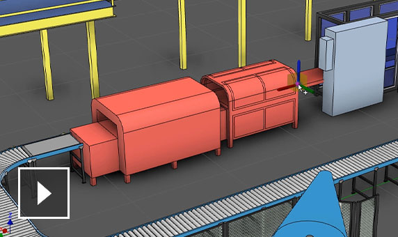 Video: Conveyor belt detail from design of bottle factory building