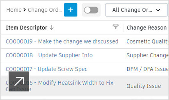 Easily manage change requests and change orders