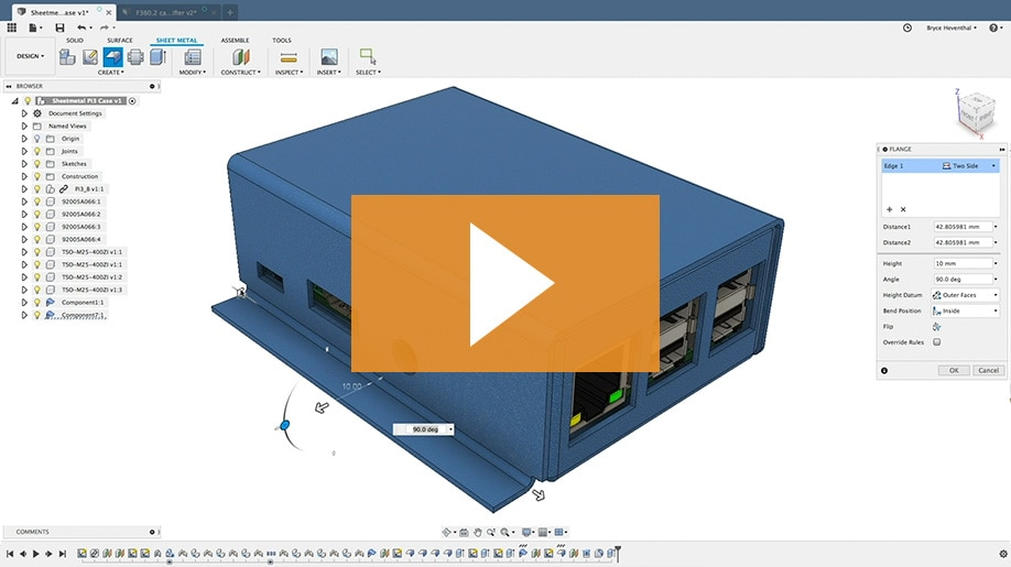 Fusion 360 Features Online Cad Cam Design Software Autodesk