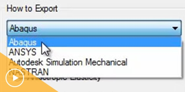 Video: export data for input to downstream FEA