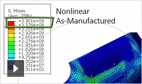 Video showcasing how to apply Autodesk Moldflow plastic molding results to FEA simulations using Helius PFA