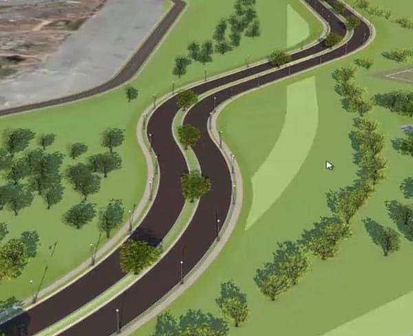 在环境中执行道路设计