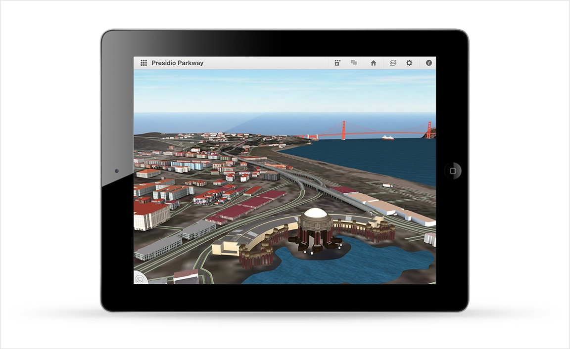 Use your iPad to view models and scenarios