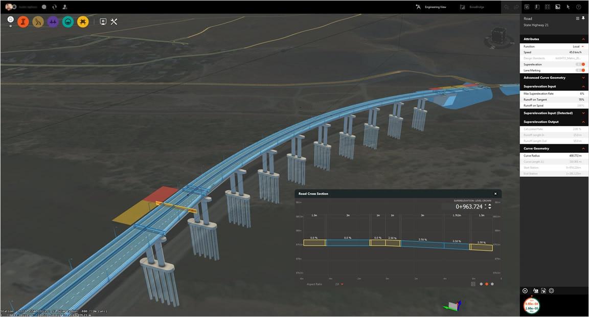横断勾配摺り付け橋梁