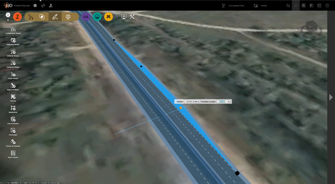 Add components for roads to your conceptual design