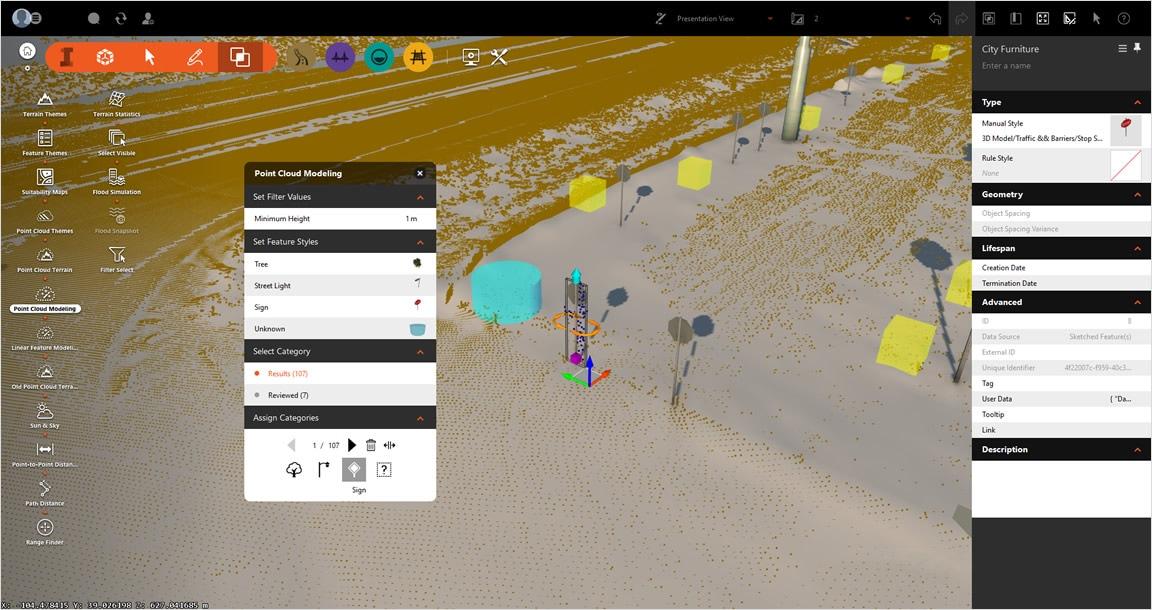 自動化された設計では点群から 3D モデルのフィーチャを生成できます。