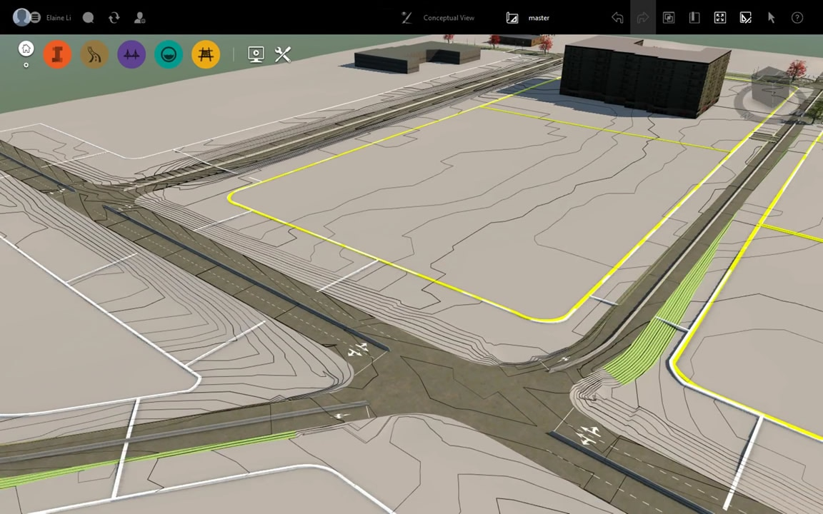 Geospatial analysis features include the ability to view terrain contours