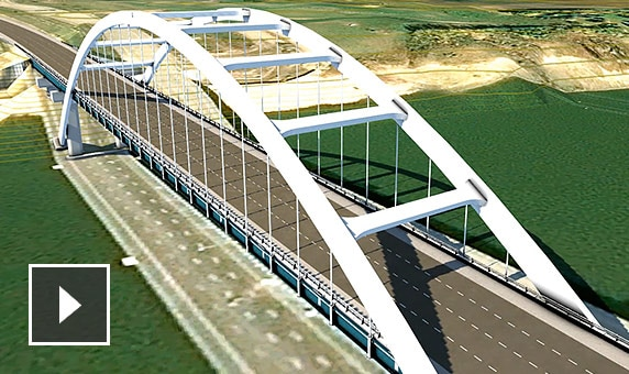 ビデオ: InfraWorks からパラメトリック橋梁パーツをモデリング