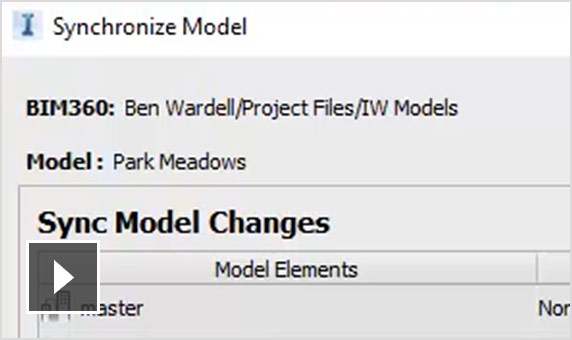 Video: Sync models with BIM 360 and identify cloud models. Remove proposal models from the cloud model as needed.