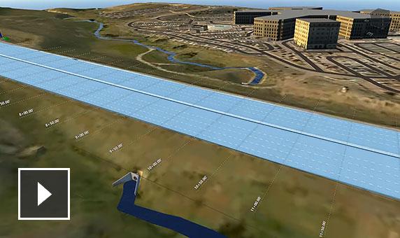 동영상: 물 배수 속성이 포함된 도로 모델의 상세 정보를 표시하는 자동 Screencast