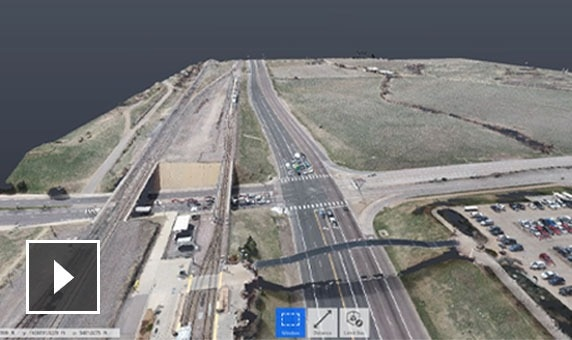 Video: Silent screencast showing how to capture an area with roads and highway overpasses
