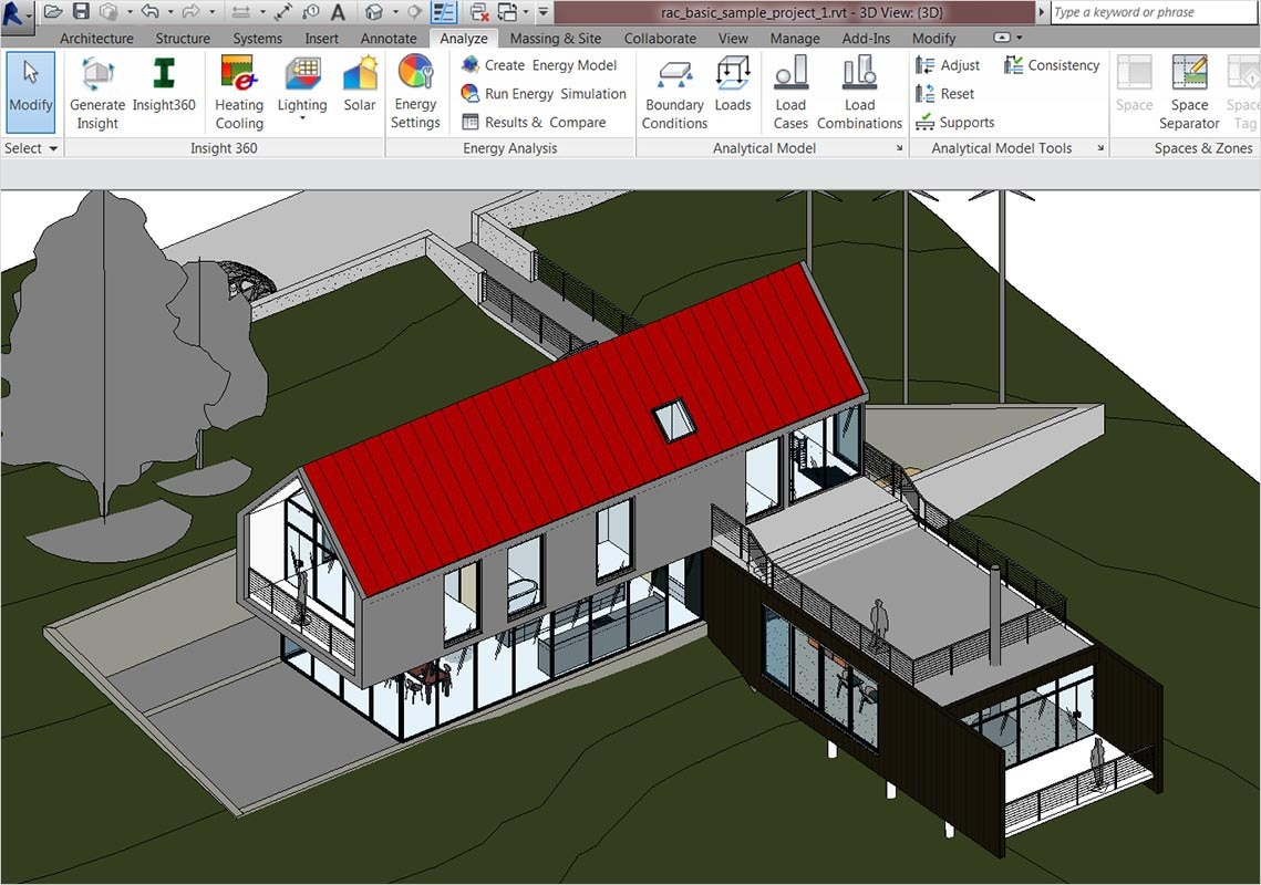 Analysis from FormIt 360 Pro and Revit