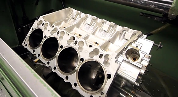 Image of a cylinder head at Kalitta Motorsports